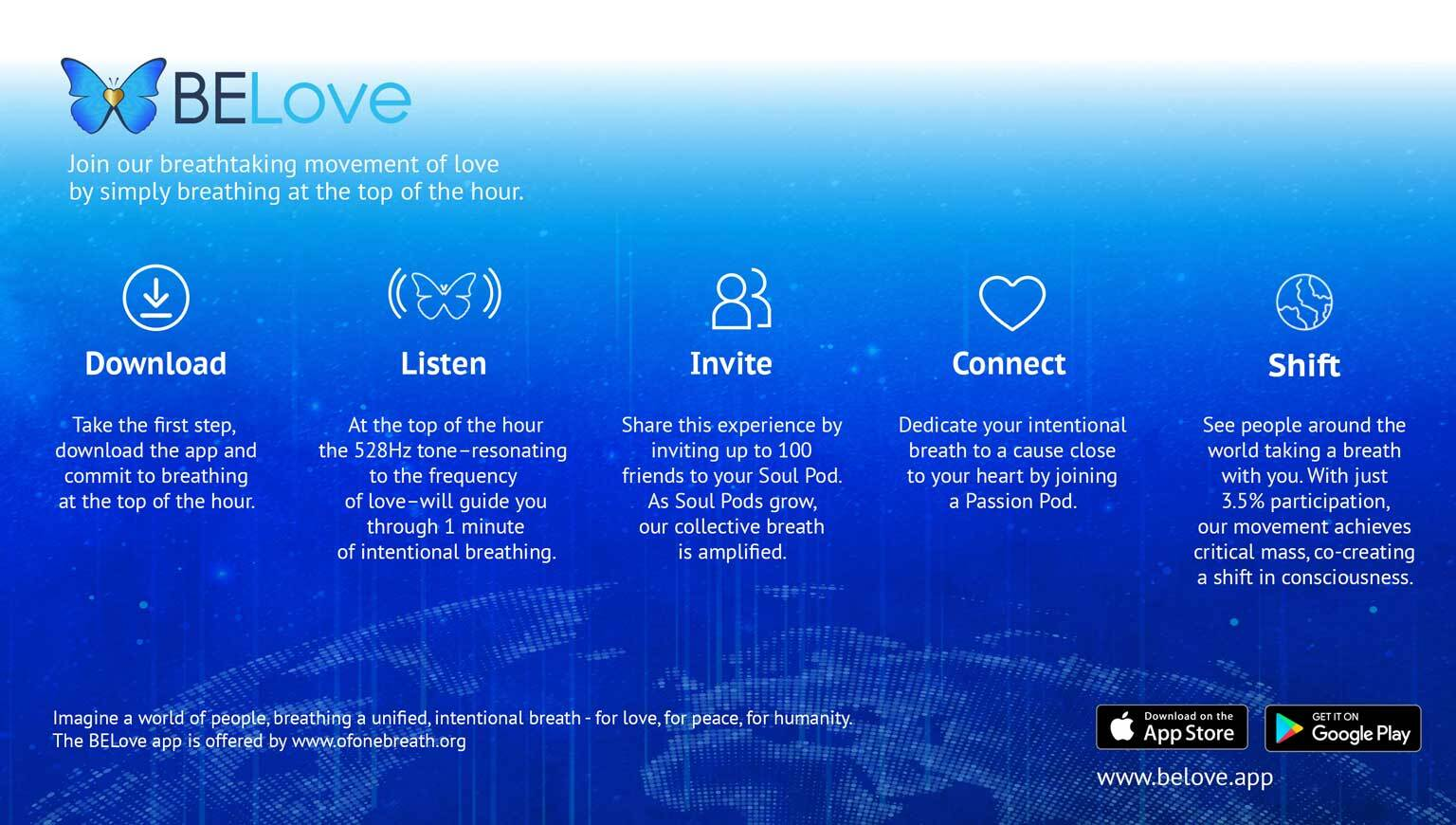 BELOVE APP DELIVERS A CONNECTED COMMUNITY EXPERIENCE THROUGH THE SIMPLE ACT OF BREATH