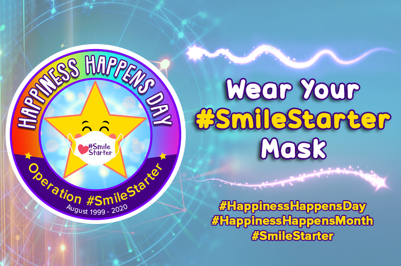 Happiness Happens Month happy mask
