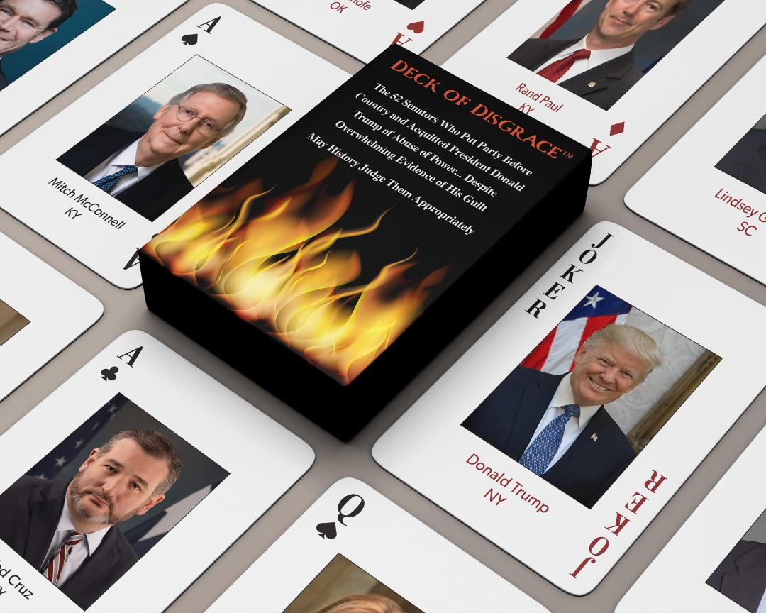 Deck of Disgrace, Playing Cards Lament the Trump Impeachment Verdict